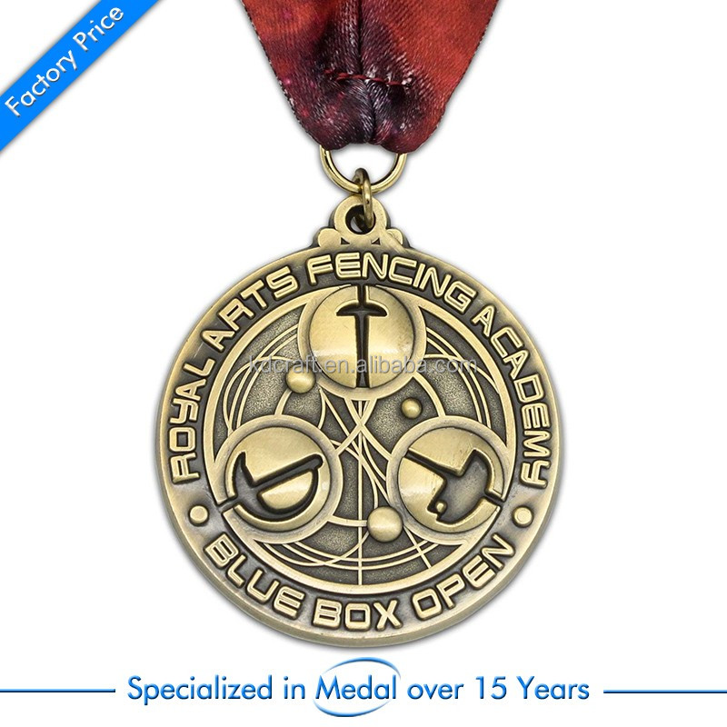 Novelty branded cheap metal enamel medal