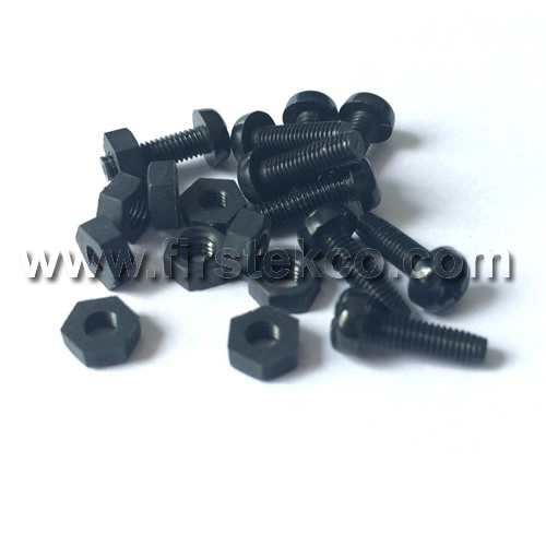 Black Nylon nuts and nylon screws