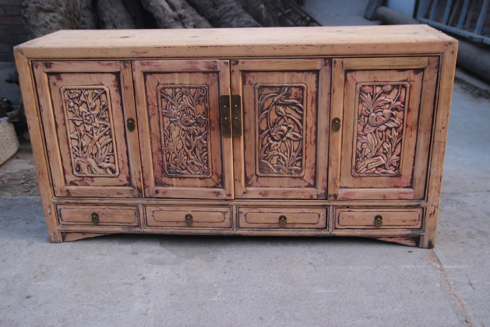 chinese antique furniture solid natural wood hand carved cabinet buy
