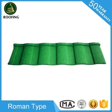 New design Roman stone coated steel roofing tiles,stone coated roof tile for house roof