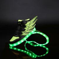 New fashion colorful change led light casual shoes for children kid light up shoes