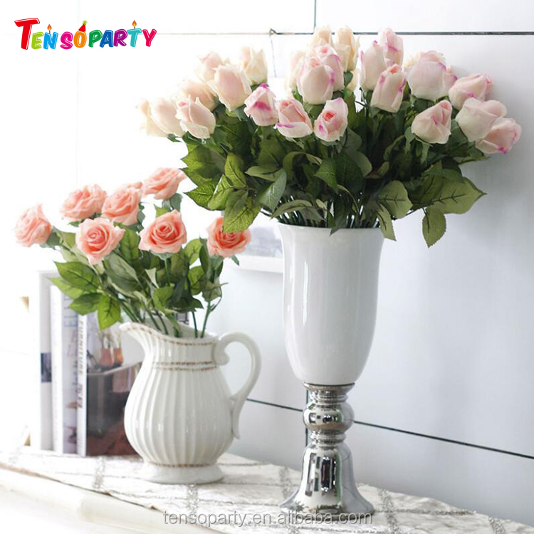 Moisturizer real touch different colors rose buds artificial silk flower for sale