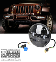 "7"" high power auto car harley 7 inch 3600lm Cree jeep wrangler h4 waterproof LED Headlight for motorcycles"