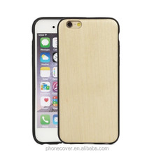 Full protect sides tpu wood phone case for iphone 7