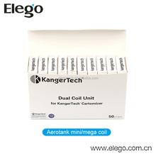 Wholesale Original Kanger Upgrade Dual Coil Fits Aerotank/Aerotank mini&mega/ Protank3/Mini protank3/ EVOD-2/EVOD-Glass