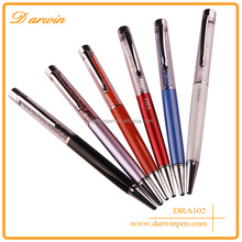 2016 Hot Promotion colour mixture metal detectable crystal ball pen in high quality