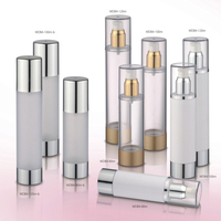 cosmetic packaging trial size 5ml airless bottle frosted gold