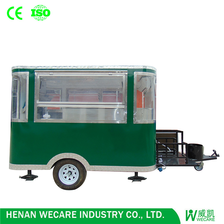 New modern mobile three windows food van