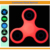 Luminous LED light Anti Stress Finger Tri Hand Fidget Spinner Toy with Hybrid Ceramic Bearing or Metal
