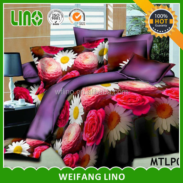 king bed cover colourful bedding/luxury shiny bedding set