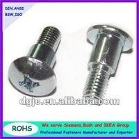 Factory price stainless steel304 cross head half thread machine screw with step