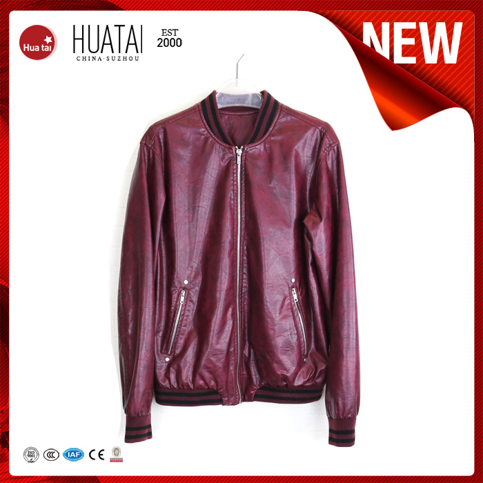 Custom Winter Purple Leather Bomber Jacket for Woman
