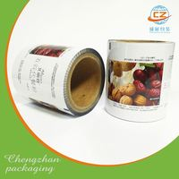 Plastic packaging film on roll lamination roll film for food packaging
