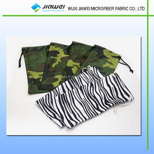 digital printed microfiuber glasses bag, custom printed jewelry pouches