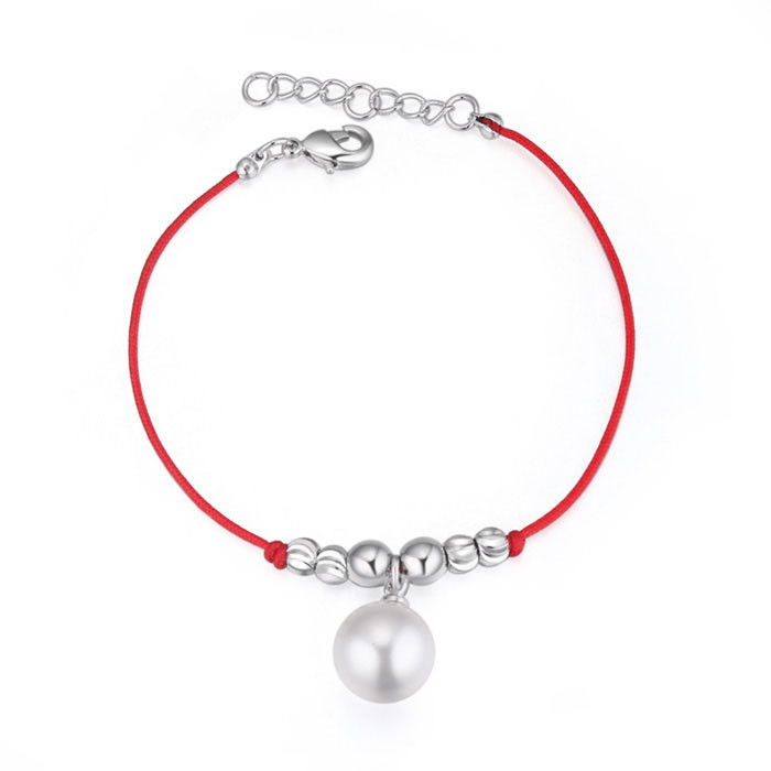 christian products wholesale Pearl bracelet with Platinum plated bracelet from China Supplier