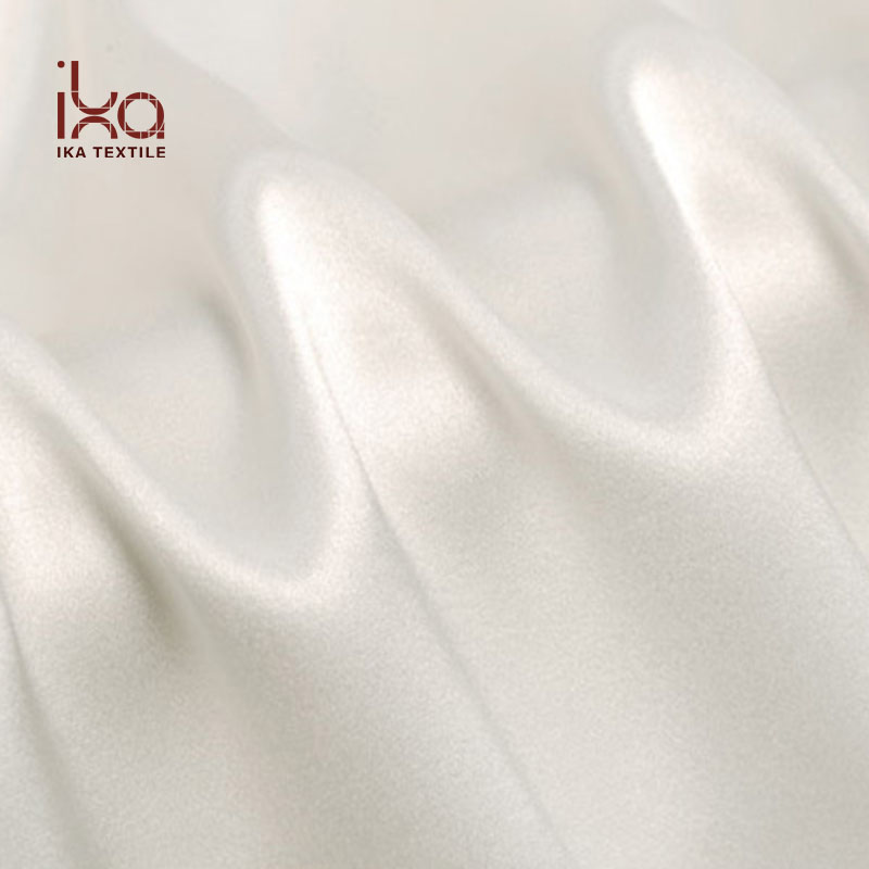 Wholesale Washable Custom Thick Woven White Silk Stretch Fabric Satin for Trousers