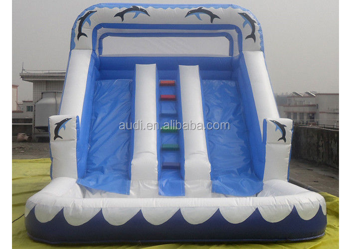 Three lines Inflatable Water Slide With Pool For Kids