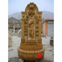 outdoor stone wall fountains for sale with bathing girl statue