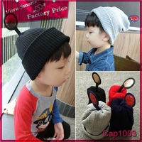 Very cheap Made in China children knitted beanie hat wool winter hat for baby girls and boys