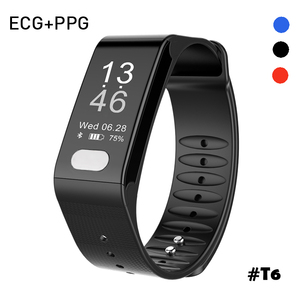 Promotional patent ECG smart band customized logo SDK available fitness tracker with heart rate monitor