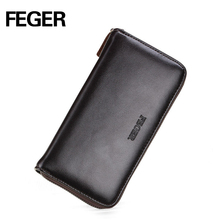 FEGER multipocket pu long type credit card organizer wallet with coin slot