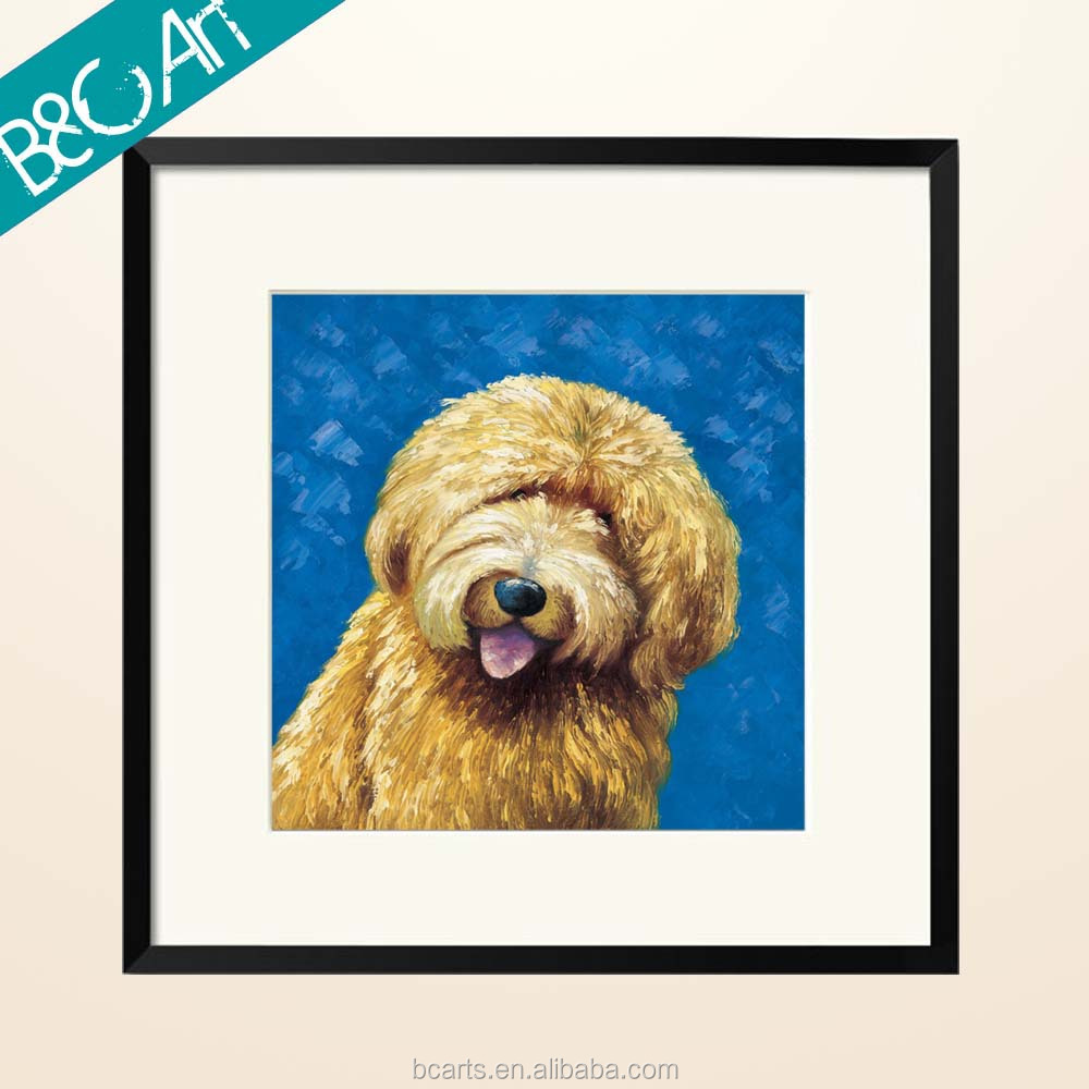 Z(4252) Cute Dog Wall Picture Print on canvas for Bedroom