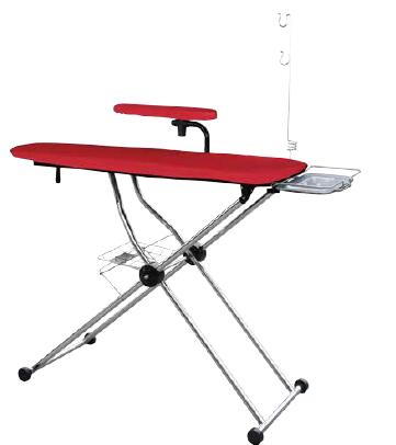 Chinbest CB-1980F space-saving folding and height adjustable iron table ironing board with cotton cover ironing basket
