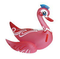 Lovely Customized Inflatable Swan Rider