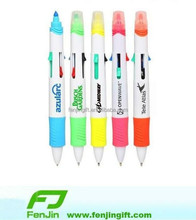 promotion cheap multi color multi pen with highlighter
