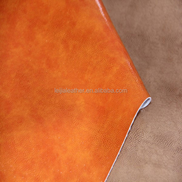embossed pattern pu synthetic leather for making handbags shoes sofa ,car seat covers.