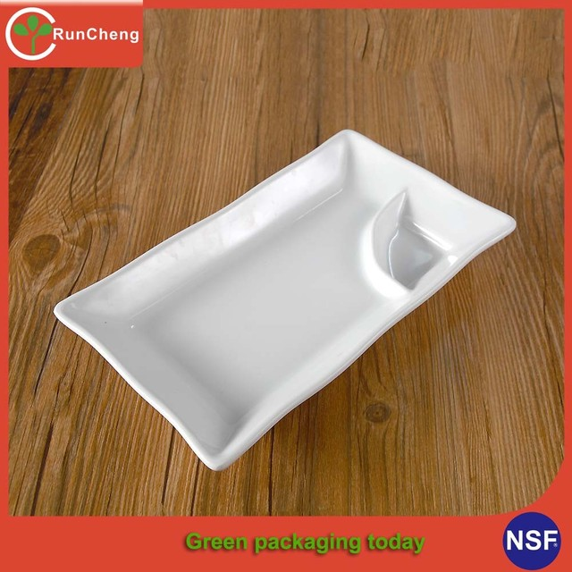 8-10inch 2 compartment melamine ided dinner plate & 2 compartment melamine plates_Yuanwenjun.com