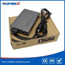 High Reliable 10/100M fiber media converter with AC power adaptor