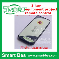 Smart Bes 5pcs/lot Customized 3 key equipment project remote control and long distance small infrared remote control