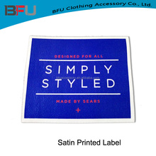 Woven edge clothing printed labels with washing instructions