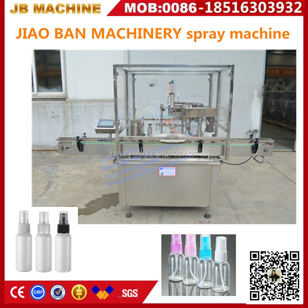 two heads JB-P2 liquid spray filler and screw capper equipment from Shanghai