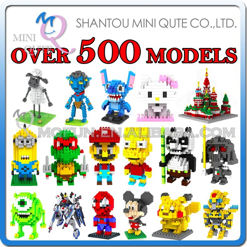 Mini Qute Over 500 styles loz building blocks toys educational toys gift for boy