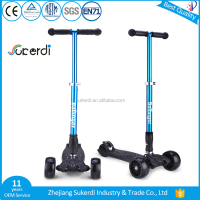 Best birthday gift high quality kids age child kick scooter 120/100*50mm large wheel 3 wheel scooter for children