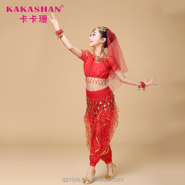 Shiny Professional Sexy Arab Girl Belly Children Kids Stage Dance Costumes Buy Sexy Arab Girl Belly Dance Costumekids Stage Costumeschildren Dance
