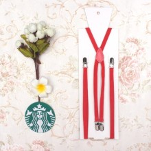 10XP4J01-7 Rose red Funny mens braces decorative suspenders