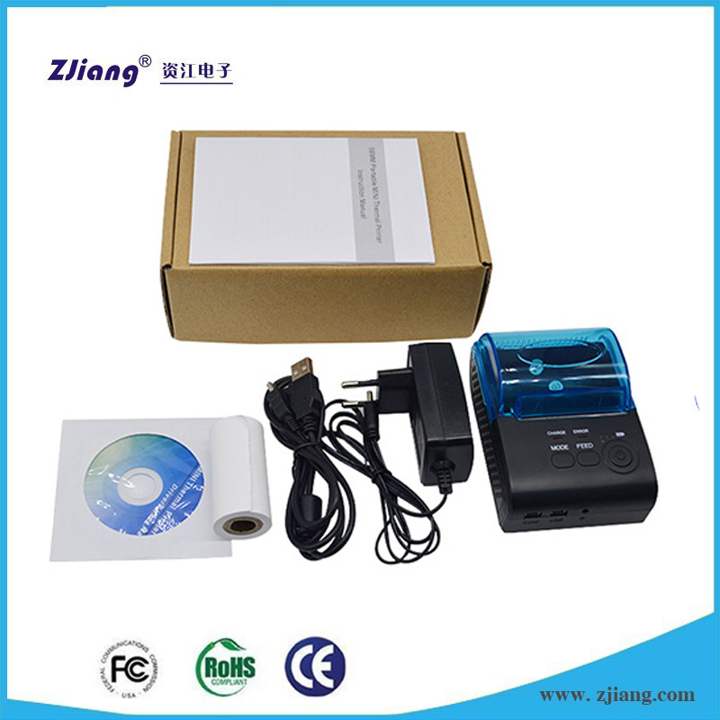 Point of Sale Receipt Printer IOS ZJ-5802DD Small Ticket Printer for Mobile