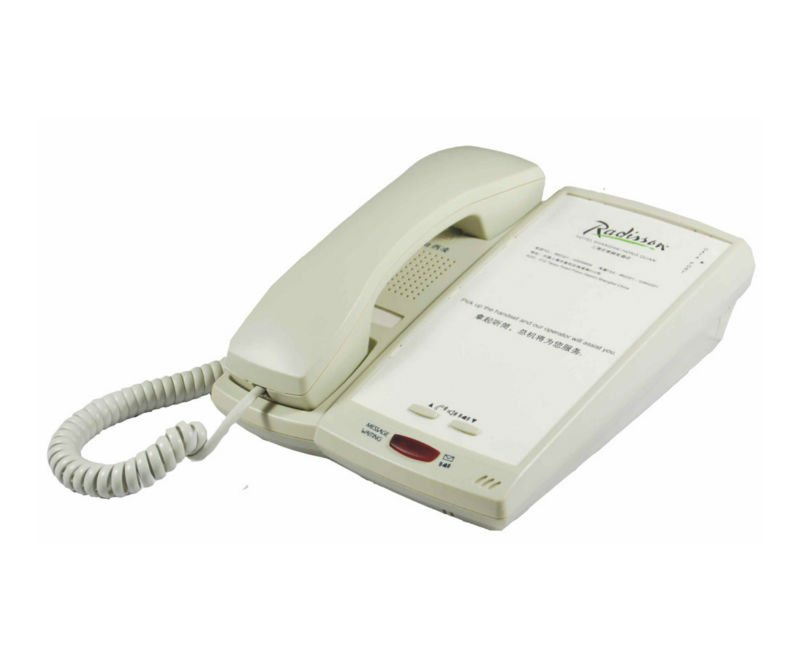 Hotel telephone with with 10/5/3 guest service buttons,message waiting& incoming call indication