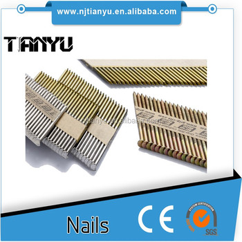 Collated strip nails 50 65 75 90 mm 34 degree paper stripped nails