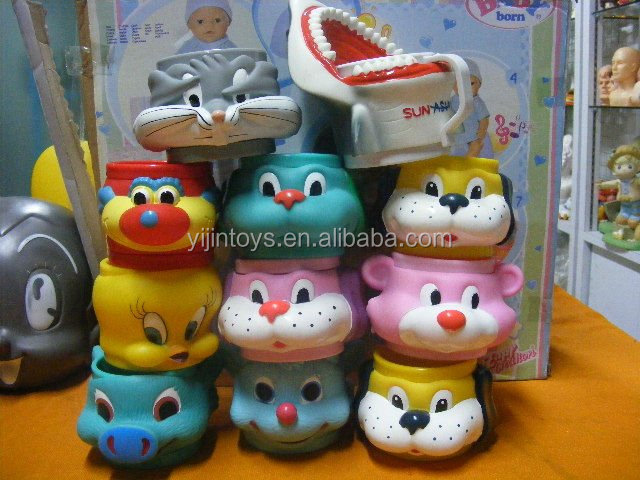 all kinds of animal shape mugs,non-phthalate pvc design cups