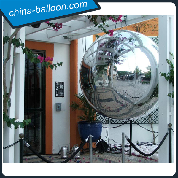 Good quality giant inflatable mirror ball/ silver balls inflatable for sale
