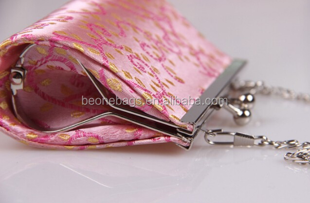Factory oem & custom silk small ladies wallets and purses