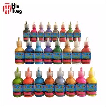 High quality new style hot sale non washable Waterproof 24pcs 29ml 3D Fabric Paint