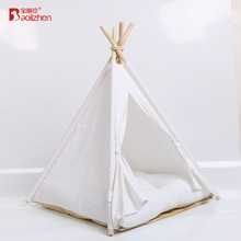 Color Stripe Canvas Pet Bed Teepee Indian Tents For Small Dog