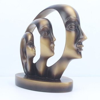New Arrival Resin Craft European Style Beauty Face Abstract Figurine for Home Decoration