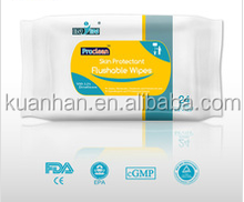 medical type Flushable skin care tissue,skin tissue, protect wet tissue