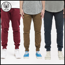 Custom 98 cotton 2 spandex twill cotton harem pants blank chino jogger pants for men multi color sport sweat pants